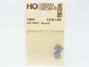 HO Scale Detail Associates #1901 Air Vent - Round, Cab Or Hood Mount (12)