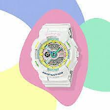 Casio Ladies BA-110TM-7AER Baby-G World Time Alarm 100m W/R Official Stockist