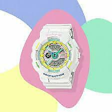 Casio Ladies BA-110TM-7AER Baby-G World Time Alarm 100m W/R Official Stockist