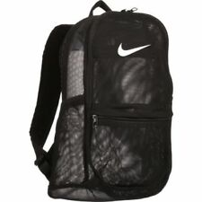 nwt NIKE BRASILIA MESH BACKPACK white BA5388-010 NWT black