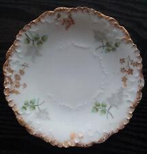 Elite Limoges France antique porcelain plate, Bawo & Dotter / Laviolette, floral