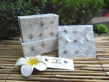 Capiz Shell Drink Coasters - Hand Crafted with mother of pearl shell