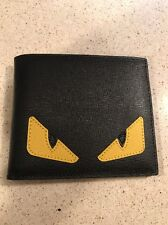Fendi Buggies Billfold black saffiano leather MSRP$450