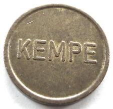 GERMANY KEMPE Car Wash Token 22mm 6g Brass, Rare. II12.3