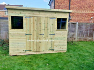 shed pent garden outdoor workshop tool store heavy duty tanalised bike store gym