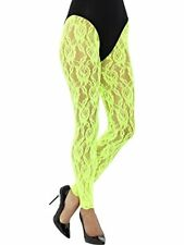 Smiffys Damen 80er Jahre spitzen Leggings One Size Neon grün 45160
