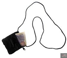 NAPPA REAL LEATHER SOFT NECK PURSE/WALLET ORGANSER TWO ZIPPED COMPARTMENTS