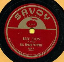 HAL SINGER Beef Stew / One For Willie