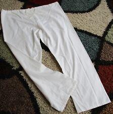 Best Medical Unisex Reversible Drawstring Scrub Pant 100% Cotton White Sz 2X