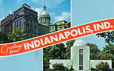 postcard USA  Greetings from Indianapolis   unposted