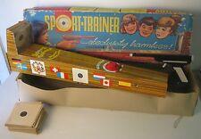 sport trainer giocattolo anni 50 in latta, con scatola, raro!