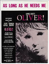 OLIVER! Broadway Sheet Music AS LONG AS HE NEEDS ME 1960 Piano Vocal