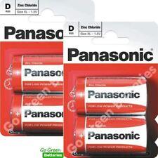 4 x Panasonic D Size Zinc Carbon Batteries  (LR20, MN1300, Mono)