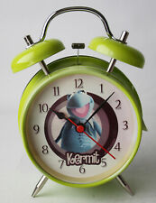 VERY RARE 2007 THE MUPPETS KERMIT ALARM CLOCK NEW NOS !