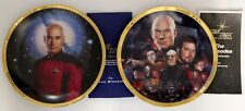 2 Star Trek Next Generation Hamilton Collection Collector Plates w/ Certificate
