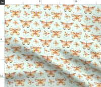 Butterflies Insect Migration Stylized Monarch Spoonflower Fabric by the Yard