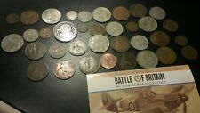 MIXED LOT OF 30+ BRITISH EMPIRE COINS AND 1 COMMEMORATE COIN. 1861 ONE PENNY +