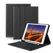 Für Apple iPad 9.7 5th / 6th 2017 / 2018 Bluetooth Tastatur Hülle Tasche Case