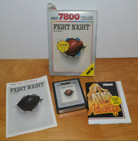 Vintage ATARI 7800 FIGHT NIGHT Video Game With Box 1988 Nice
