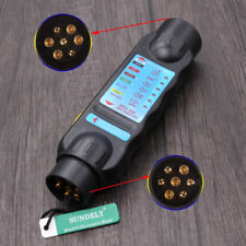 Car Caravan 7 Pin Towing Trailer Tow Bar Light Wiring Circuit Tester Plug Socket