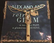 Alex and Ani Diamond Girl  Whistle Necklace NWT RARE Gold Tone Retro Glam