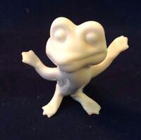 "Dancing Frog White Ceramic  Figurines 2 1/2"""