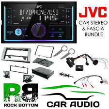 Ford Fiesta 2005-2008 JVC Bluetooth Mechless Car Stereo Silver Kit CTKFD22
