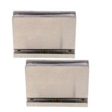 2x Shower Glass Door Hinge Adjustable Glass Clamp Hinge -5mm