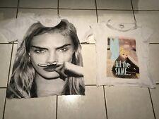 superbe lot de 2 tee shirt Eleven Paris Life is a joke 100% coton s Xs blancs