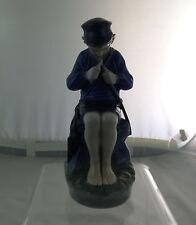 Royal Copenhagen Porcelain #905 Figurine Shepherd Boy Whittling Stick 1962