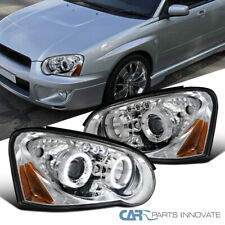 For Subaru 04-05 Impreza WRX LED DRL Halo Clear Projector Headlights Left+Right