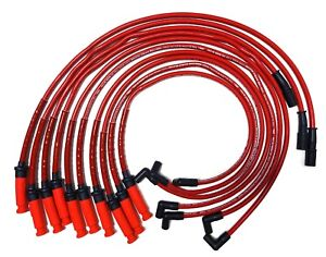 Viper 8.3L V10 05-06 Ram SRT High Performance 10mm Red Spark Plug WireSet 58389R