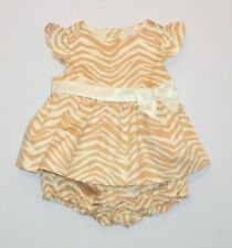 "NWOT Gymboree ""Savanna Party"" Zebra Striped Print Chintz Sateen Dress, 6-12 mos."