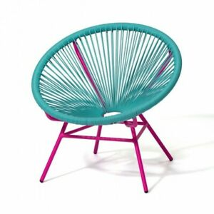 Francfranc Lotus Personal Chair Turquoise x Pink Single Room Furniture