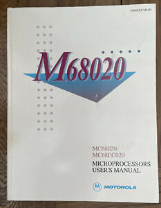 Motorola MC68020 MC68EC20 Microprocessors User Manual