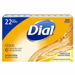 Dial Antibacterial Deodorant Bar Soap, Gold - 4 Oz, 22 Count