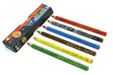 Koh-I-Noor Magic (3408) Set of 6 Multicoloured Jumbo Pencils ,New