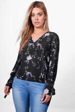 Maglie e camicie da donna Blusa nero floreale