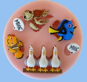 NEMO SILICONE MOULD FOR CAKE TOPPERS CHOCOLATE, CLAY ETC