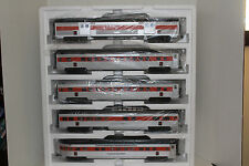 mth #20-65214 new haven 5 car 70' abs passenger set ribbed
