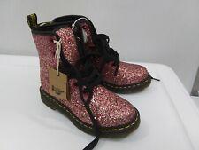 New DOC DR MARTENS 1460 FARRAH Pink CHUNKY GLITTER BOOTS SZ 6 L WOMENS Air Wair