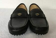 Gucci Men Bee GG Black Color  Drivers Loafers Gold Logo Size 10 Business  gi62