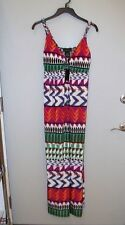 NWT Attention Maxi Sundress/Cover Up/Cruise-L-Multicolor-Southwest-Full Length