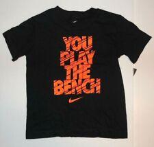 Nike Boys T-Shirt You Play The Bench Black Orange Size 4 NWT
