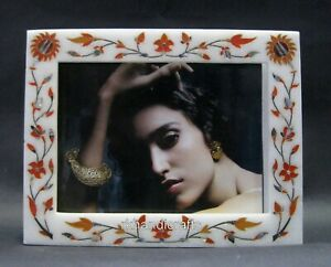 9 x 7 Inches Marble Photo Frame Peitra Dura Art Picture Frame for Wedding Gift