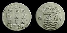 Netherlands / Zeeland - Dubbele Wapenstuiver 1738/37 ~ CNM 2.49.95