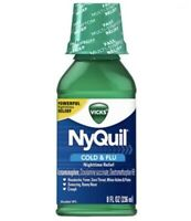 NyQuil Cold & Flu Original Flavor by Vicks, 8 fl oz Syrup Ex 08/21