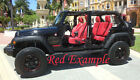 2013-2018 Jeep Wrangler Jk Katzkin Leather Seat Covers Red Custom Perforated Kit