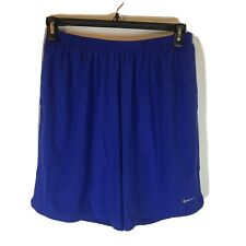 Nike Running Athletic Shorts Mens XL Dri Fit Polyester Blue