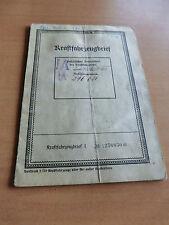 Brief LKW Opel 1396 1,3 Liter Olympia Motor  Bj 1937 26PS Vorkrieg Kastenaufbau